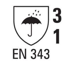 Regenjacke ISO20471/EN343 9362 gelb