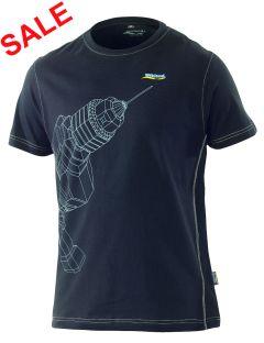 °Hr. T-Shirt 1471 Bohrmaschine schwarz