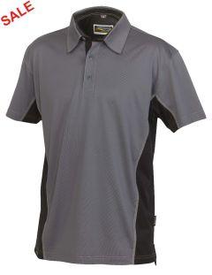 °Hr. Polo-Shirt 1822 grau/schwarz