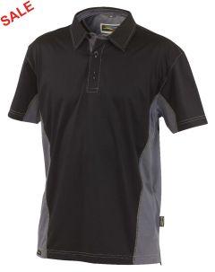 °Hr. Polo-Shirt 1822 schwarz/grau