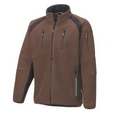 Hr. Fleece Jacke 8765 braun/schwarz